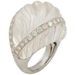 David Webb Crystal Diamond Ring