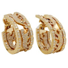 Cartier Diamond Panther Earrings