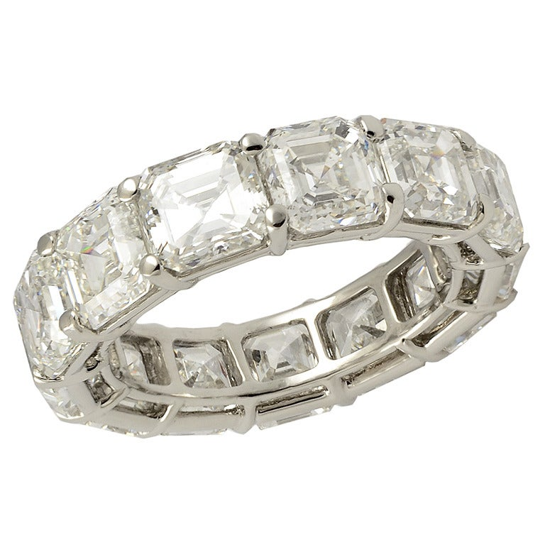 harry winston emerald cut wedding band at 1stdibs