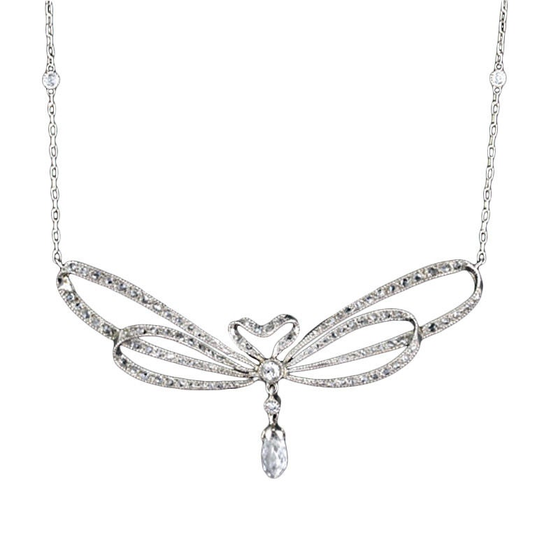 edwardian bow necklace at 1stdibs