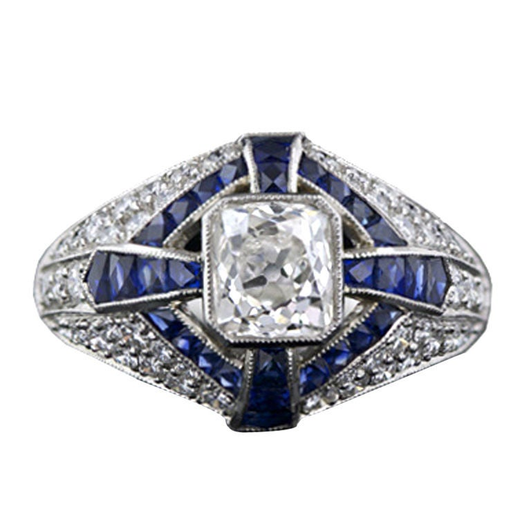 Art deco style carat diamond ring at 1stdibs for 26 carat diamond ring