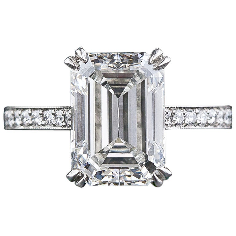 00 carat emerald cut diamond engagement ring at 1stdibs