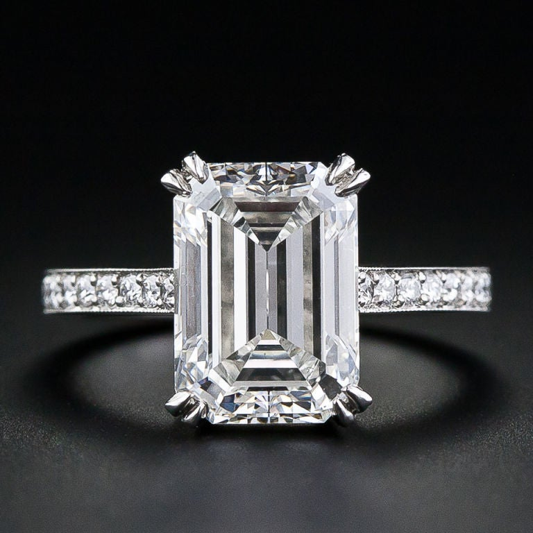 400 Carat Emerald Cut Diamond Engagement Ring At 1stdibs