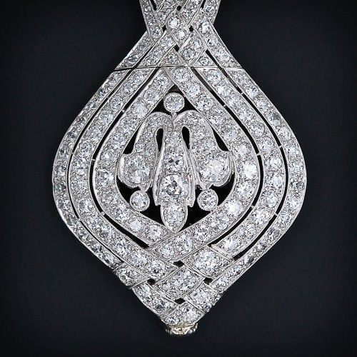 La Cloche Edwardian Diamond Pendant Necklace image 5