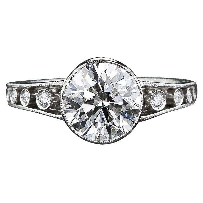edwardian style 1 96 carat engagement ring at 1stdibs