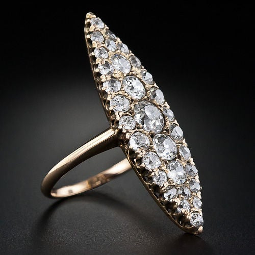 elongated antique dinner ring image 2