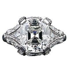 Vintage 5.32 Carat Asscher Cut Diamond Ring