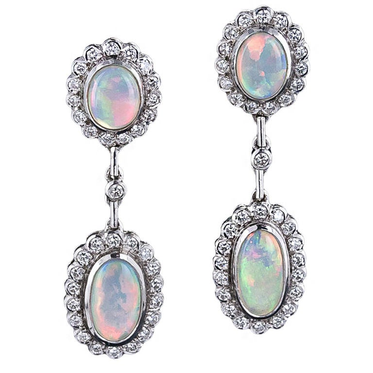 estate opal and drop earrings at 1stdibs