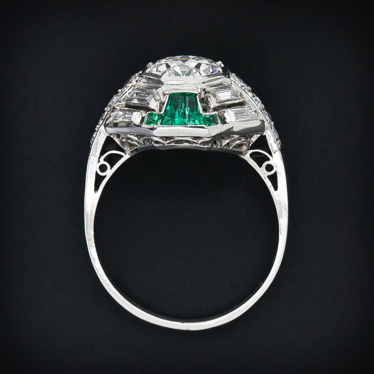 deco and emerald ring at 1stdibs