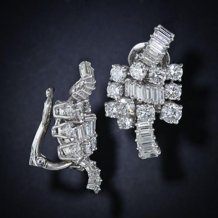 BOUCHERON Diamond Platinum Ear Clips 2