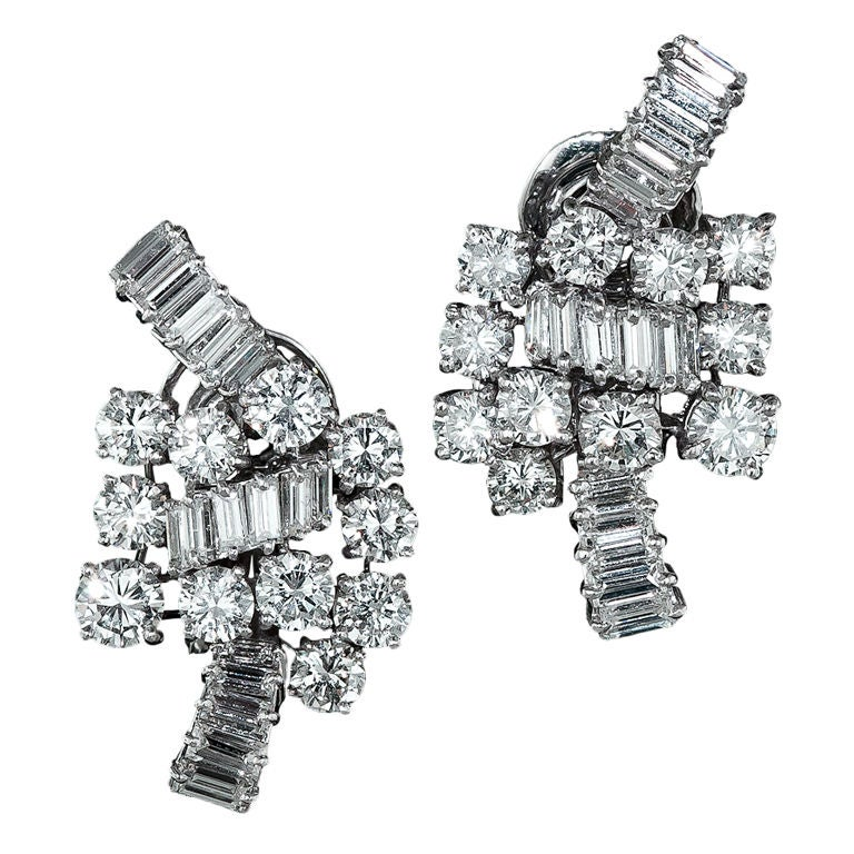 BOUCHERON Diamond Platinum Ear Clips 1