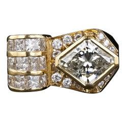 Lozenge-Shaped Diamond Ring