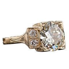 European-Cut Diamond Ring