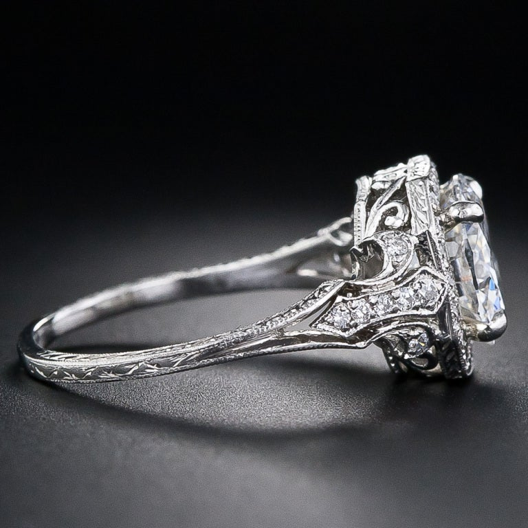 2.17 Carat D Color Diamond Edwardian Style Engagement Ring - GIA 3