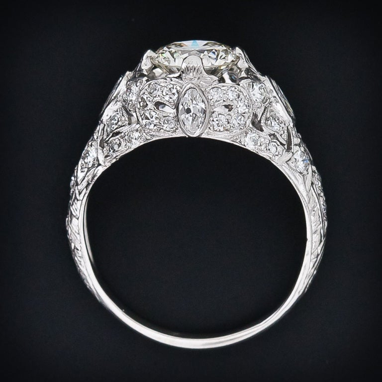 Edwardian Engagement Rings For Sale: 1.35 Carat Diamond Edwardian Engagement Ring For Sale At