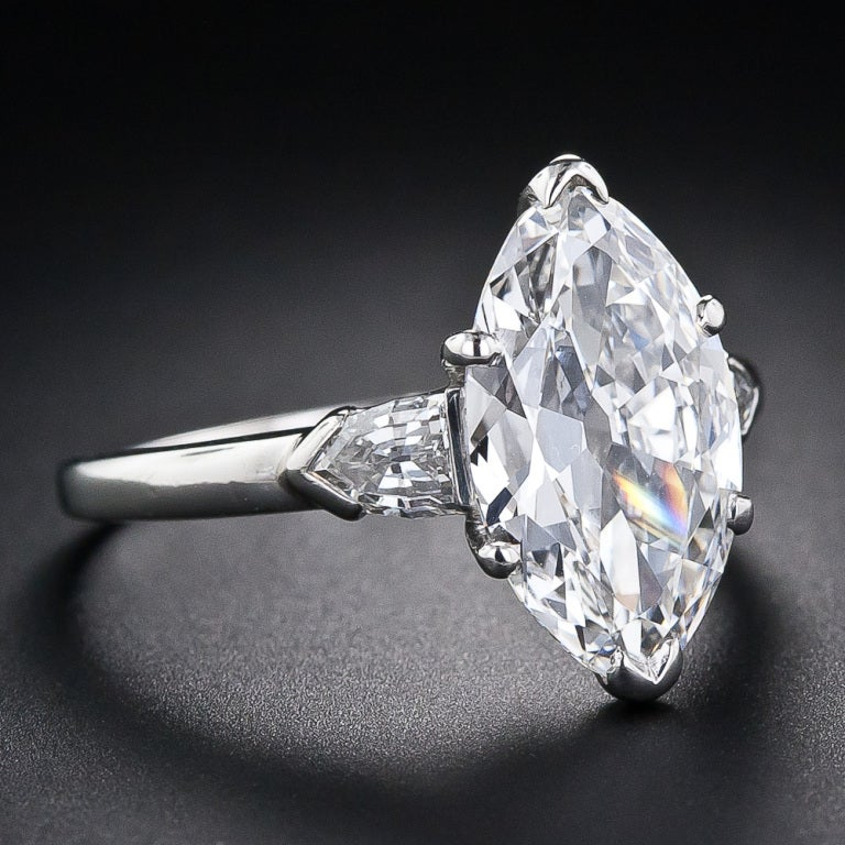 3 39 Carat Gia E Internally Flawless Antique Marquise