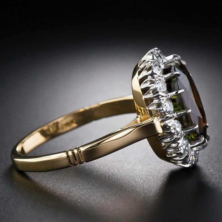 4.19 Carat Alexandrite and Diamond Ring 3
