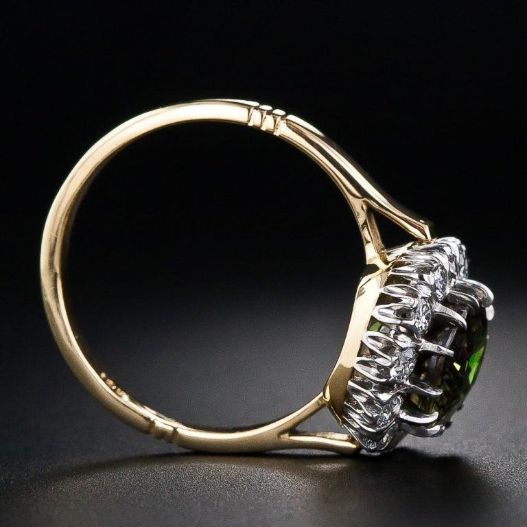4.19 Carat Alexandrite and Diamond Ring 5