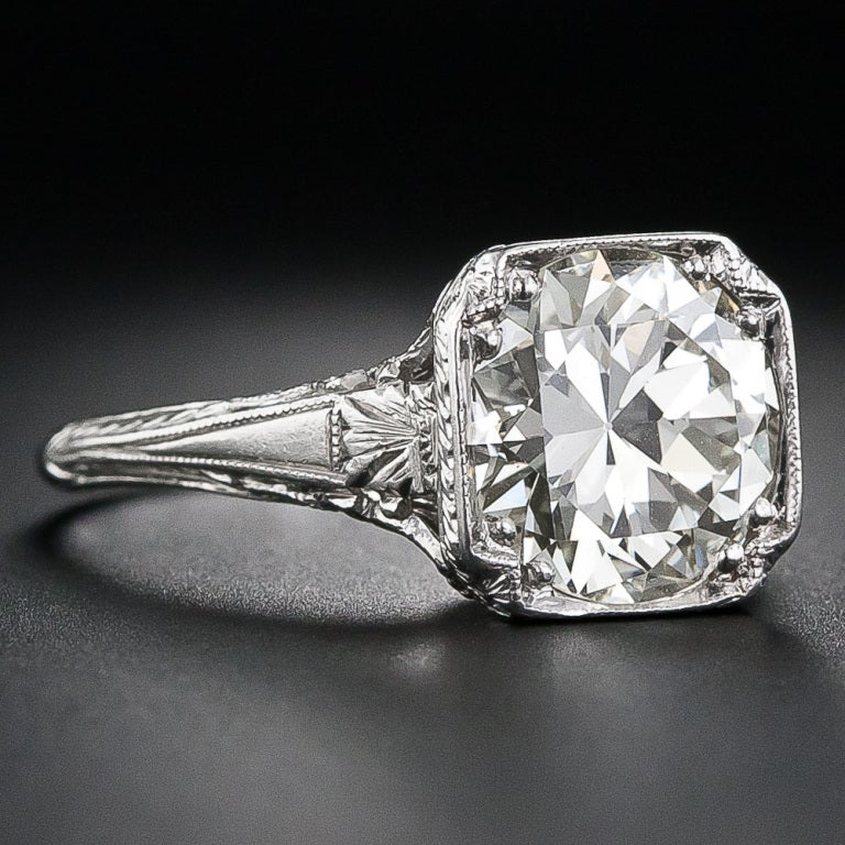 carat antique diamond engagement ring at 1stdibs