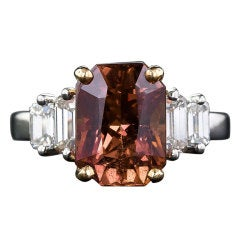 6.00 Fancy Natural Color Sapphire and Diamond Ring