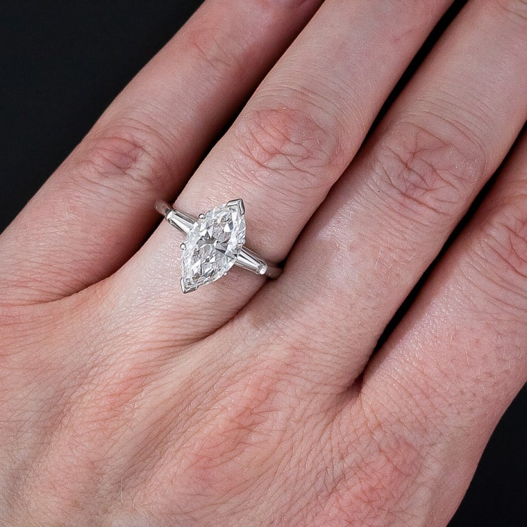 2 75 Carat Marquise Diamond Ring At 1stdibs