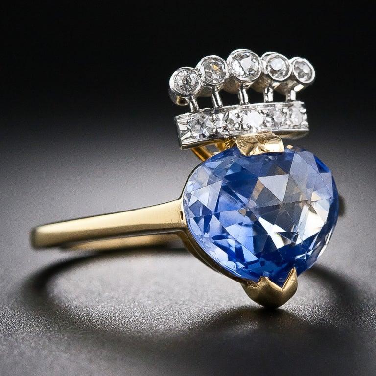 4.60 Carat Kashmir Sapphire and Diamond Ring at 1stdibs