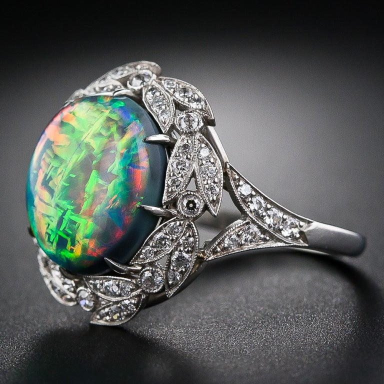 gem opal and ring at 1stdibs