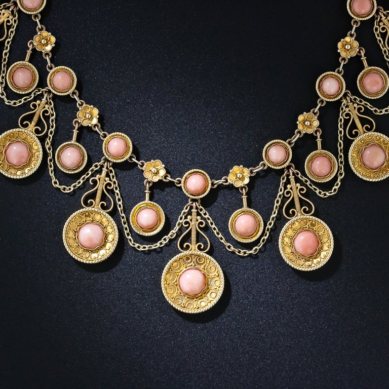 Victorian Angel Skin Coral Necklace 3