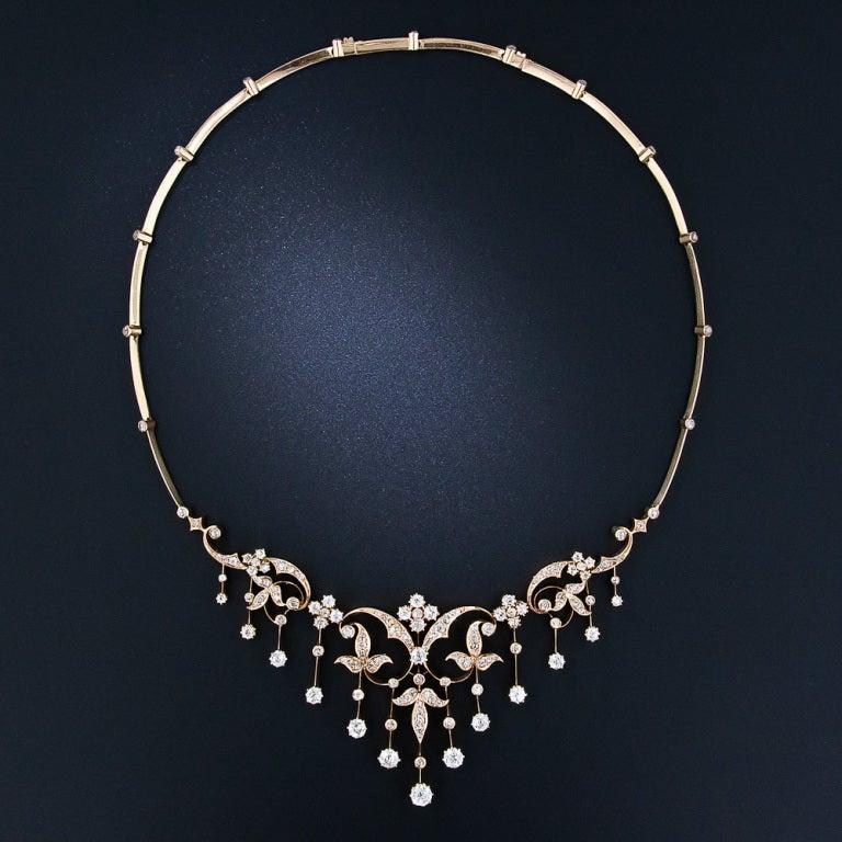 Antique Diamond Necklace 2