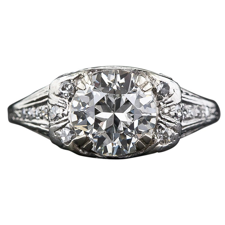 deco rings for sale 1 72 carat deco platinum ring for sale at 1stdibs