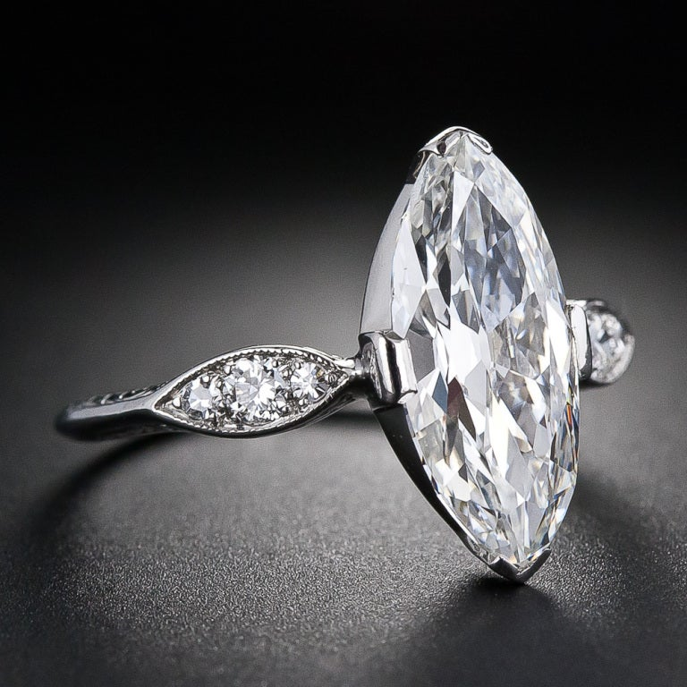 Half Carat Marquise Diamond On Hand