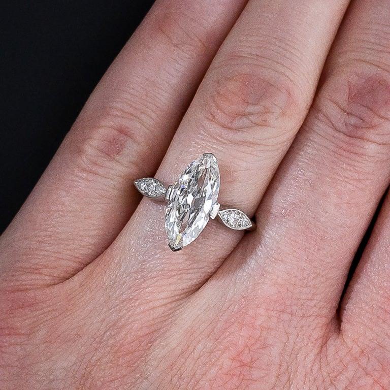 Half Carat Marquise Diamond On Hand