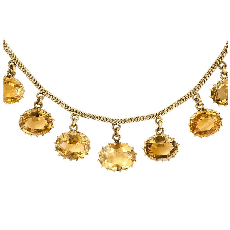 Antique Citrine Necklace At 1stdibs