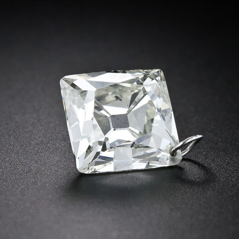 6 79 Carat Center French Cut Diamond Necklace At 1stdibs