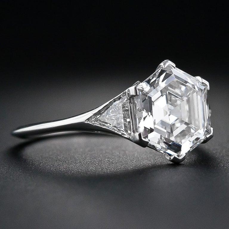 Hexagon Cut Diamond Engagement Ring