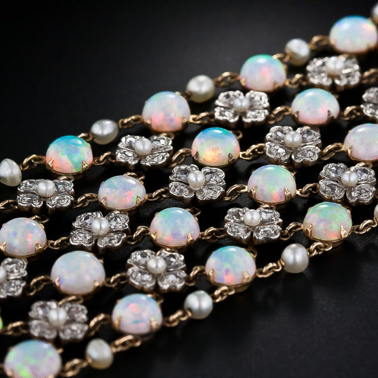 Belle Epoque Opal and Diamond Choker Necklace 2