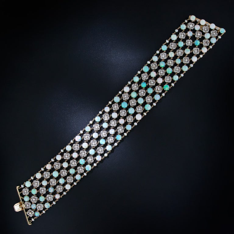 Belle Epoque Opal and Diamond Choker Necklace 3