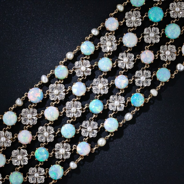Belle Epoque Opal and Diamond Choker Necklace 4