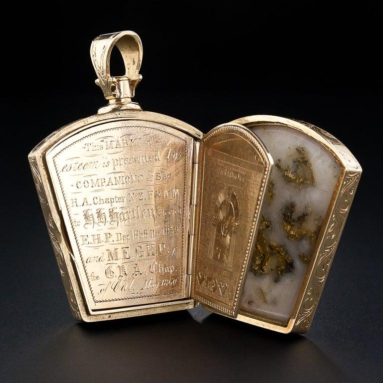 Gold In Quartz Masonic Fob Circa 1860 At 1stdibs