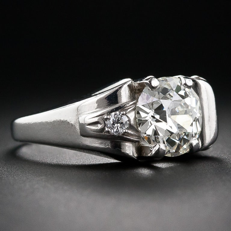 2.25 Carat Retro Diamond and Palladium Ring 2
