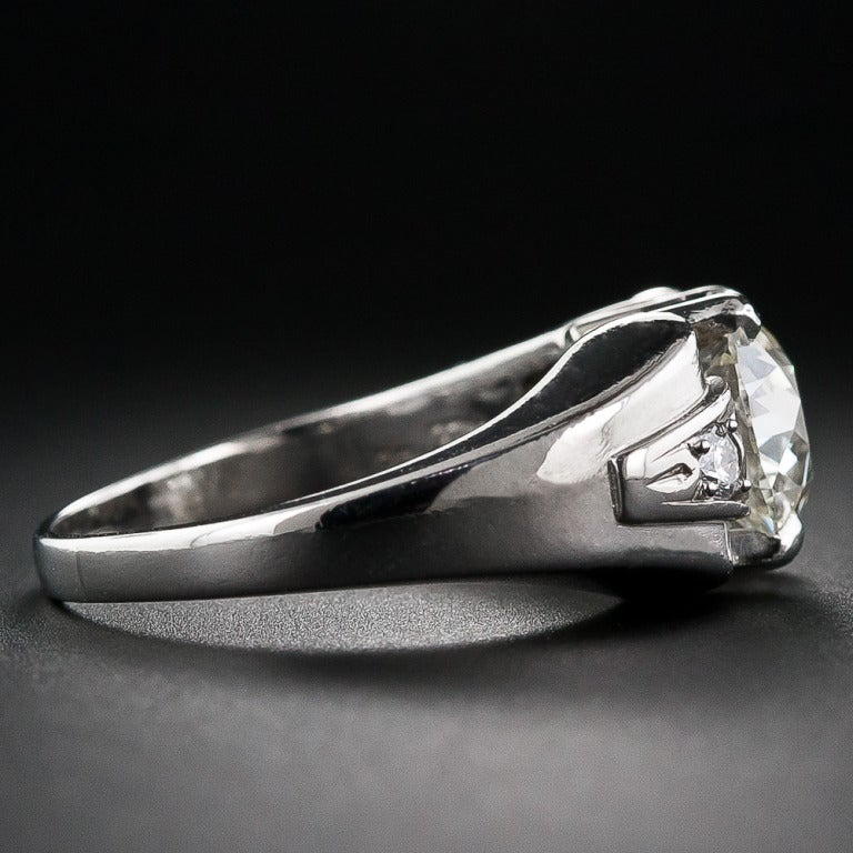 2.25 Carat Retro Diamond and Palladium Ring 3