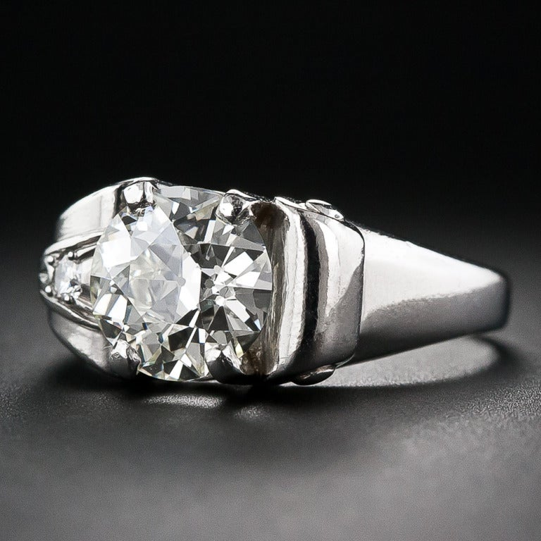 2.25 Carat Retro Diamond and Palladium Ring 4