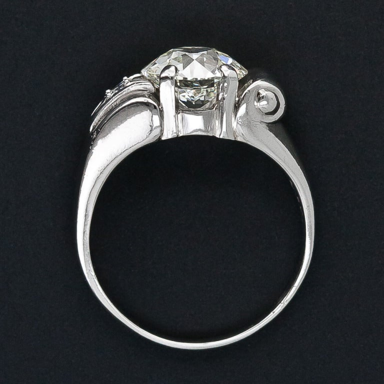 2.25 Carat Retro Diamond and Palladium Ring 5