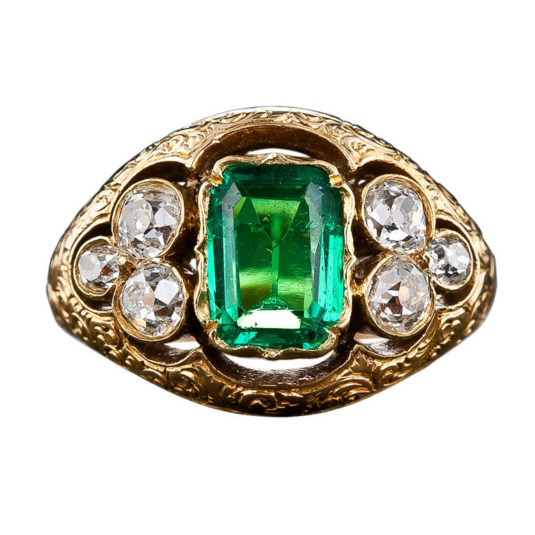 Old Fashioned Emerald Rings