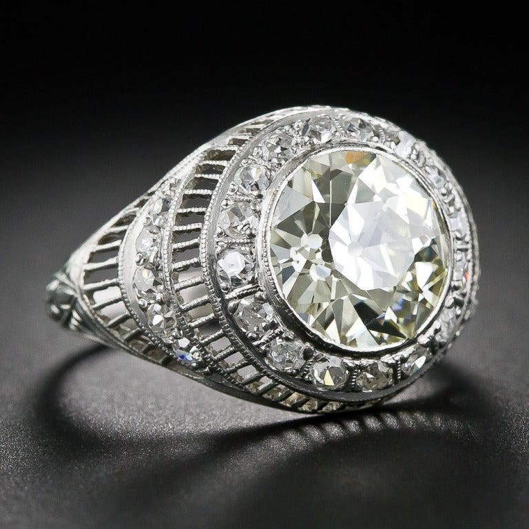 3.00 Carat Edwardian Diamond and Platinum Ring 2
