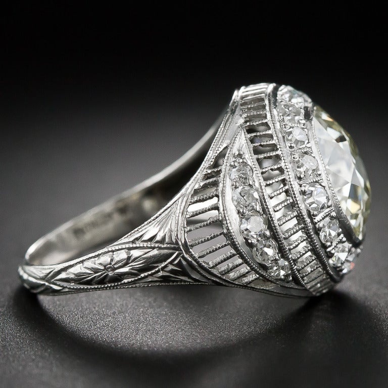 3.00 Carat Edwardian Diamond and Platinum Ring 3