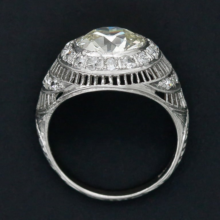 3.00 Carat Edwardian Diamond and Platinum Ring 4