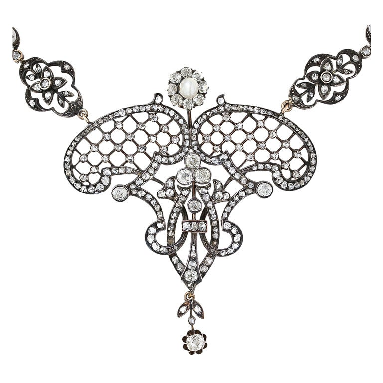 Extravagant Late Victorian Diamond Necklace For Sale at ...