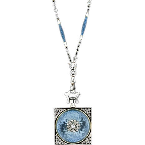 Exemplary Enamel Pendant Watch Necklace by Gubelin