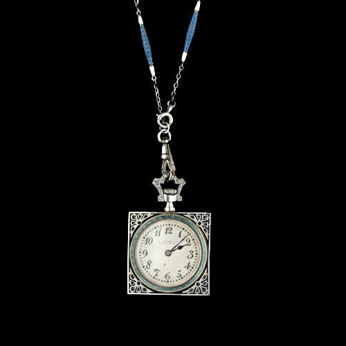 Exemplary Enamel Pendant Watch Necklace by Gubelin image 3